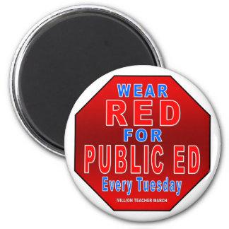 Rojo del desgaste para Ed público Imán De Frigorífico