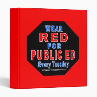 "Rojo del desgaste para Ed público (rojo) Carpeta 1"""
