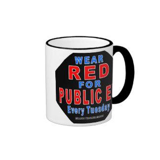 Rojo del desgaste para Ed público Tazas De Café