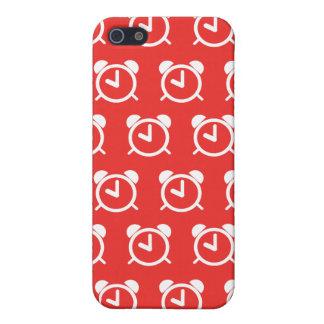 Rojo del despertador iPhone 5 funda