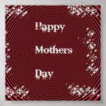 Rojo del día de madres impresiones