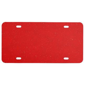 rojo del día lluvioso 14216 (i) placa de matrícula
