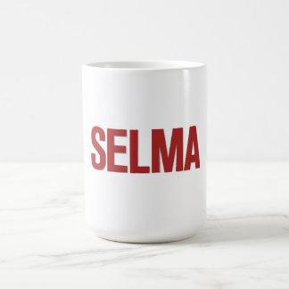 Rojo del Día-Selma de MLK Taza Básica Blanca