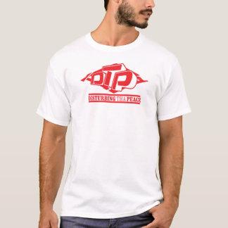 Rojo del DTP en la camiseta negra de las señoras