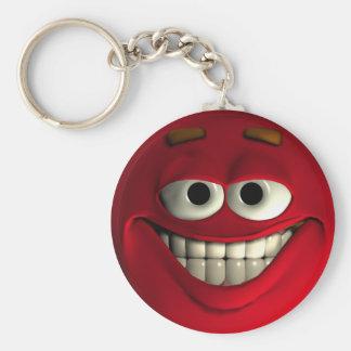 Rojo del Emoticon Llavero Redondo Tipo Pin