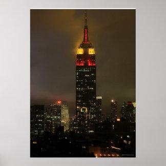 Rojo del Empire State Building, amarillo: Año Nuev Impresiones