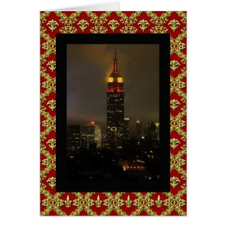 Rojo del Empire State Building, amarillo: Año Tarjeta De Felicitación