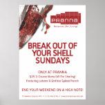 Rojo del encendedor de Pranna domingos Poster
