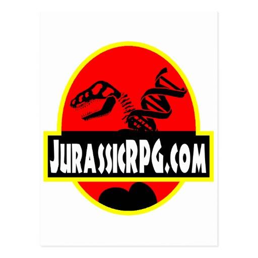 Rojo del engranaje de JurassicRPG Postales