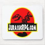 Rojo del engranaje de JurassicRPG Tapete De Ratón