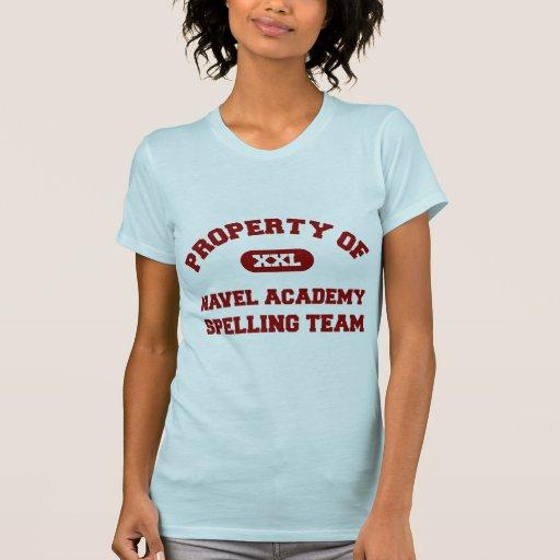 Rojo del equipo del deletreo de la academia del om camisetas