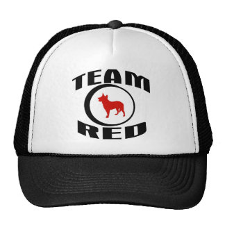 Rojo del equipo gorro de camionero