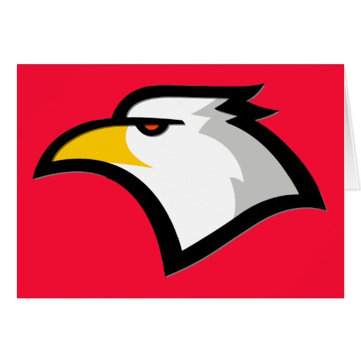 Rojo del escarlata; Eagle calvo Felicitacion