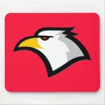 Rojo del escarlata; Eagle calvo Tapete De Raton