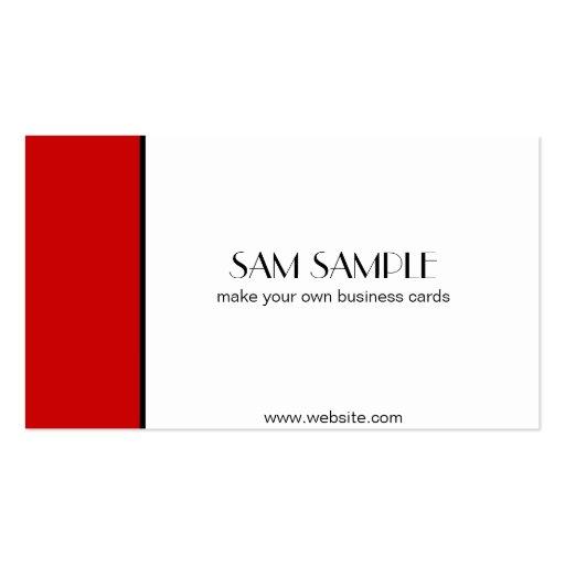 Rojo del escarlata tarjeta de negocio