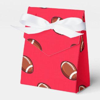 Rojo del escarlata y modelo del fútbol de Brown Cajas Para Regalos