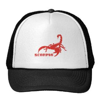 Rojo del escorpión gorros bordados