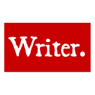 Rojo del escritor tarjetas de visita