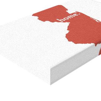 Rojo del estado de origen de New Jersey Impresion En Lona