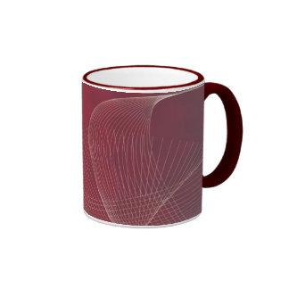 rojo del extracto por la taza de cerámica del
