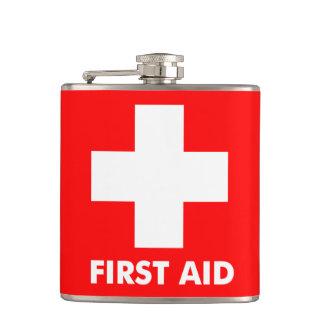 Rojo del frasco de los primeros auxilios 311 petaca