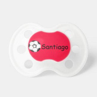 Rojo del futebol del futbol del fútbol de Santiago Chupete De Bebe