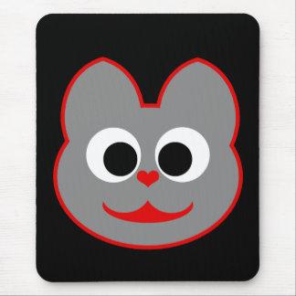 Rojo del gato del gatito - gris tapetes de raton