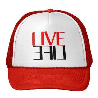 Rojo del gorra del camionero de la marca de LiveLi