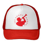Rojo del gorra del camionero de Moroni del ángel