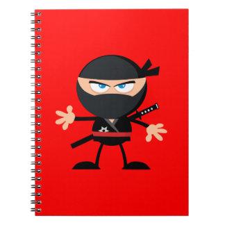 Rojo del guerrero de Ninja del dibujo animado Libreta