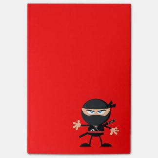 Rojo del guerrero de Ninja del dibujo animado Post-it Nota