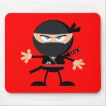 Rojo del guerrero de Ninja del dibujo animado Tapete De Ratón