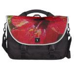Rojo del hibisco bolsa para ordenador