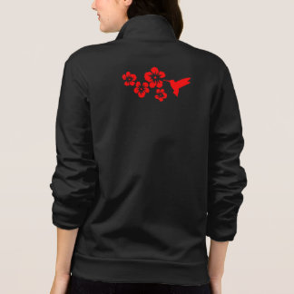 rojo del hibisco del colibrí camisetas