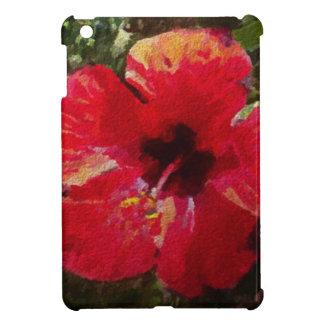 Rojo del hibisco iPad mini funda