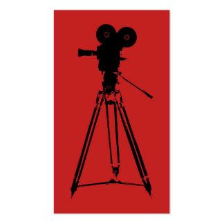 Rojo del hombre de la cámara de la película tarjeta personal
