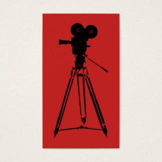 Rojo del hombre de la cámara de la película tarjetas de visita