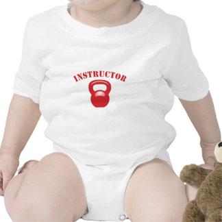 Rojo del instructor de Kettlbell Trajes De Bebé