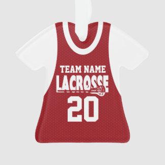 Rojo del jersey de los deportes de LaCrosse con la