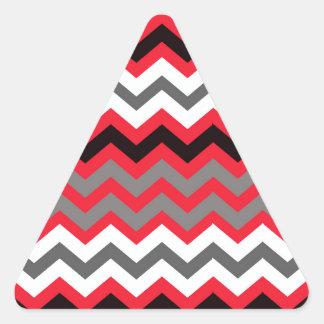 Rojo del lápiz labial, blanco y negro pegatina triangular