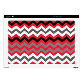 Rojo del lápiz labial, blanco y negro skins para 43,2cm portátiles