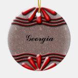 Rojo del letrero ornamentos de navidad
