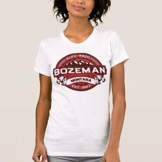 Rojo del logotipo de Bozeman Camiseta