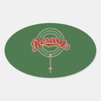 Rojo del logotipo de la escritura del círculo del calcomanía ovaladas personalizadas