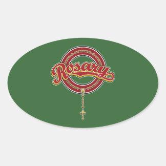 Rojo del logotipo de la escritura del círculo del calcomania de oval personalizadas