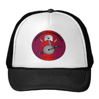 Rojo del logotipo de PedalChopper Gorras De Camionero
