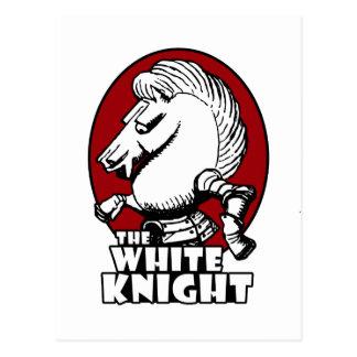 Rojo del logotipo del caballero blanco postales