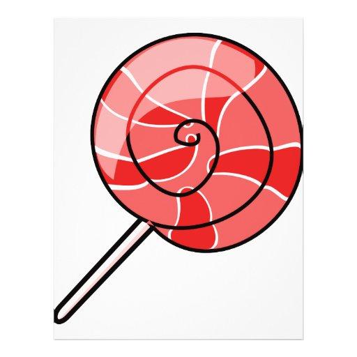 "Rojo del LolliPop Folleto 8.5"" X 11"""
