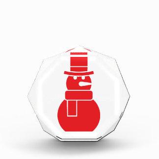 Rojo del modelo 1 del muñeco de nieve