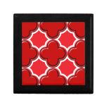 Rojo del modelo 2 del trébol caja de recuerdo